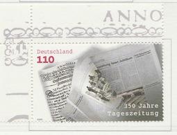 PIA - GERMANIA - 2000 :  350° Anniversario Sei Giornali Tedeschi  - (Yv 1949) - Nuovi