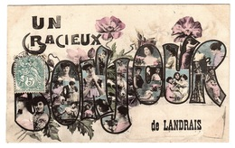 LANDRAIS (17) - Carte Fantaisie - UN GRACIEUX BONJOUR DE LANDRAIS - Ed. A. F. Laclau Aîné, Toulouse - Andere Gemeenten