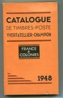 FRANCE- Catalogue De Cotation Des Timbres France De Chez Yvert Et Tellier- Champion- 1948 - France