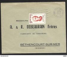 N°1084 Sur Enveloppe-Cachet Brive La Gaillarde Gare Correze - Marcofilie (Brieven)
