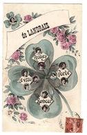 LANDRAIS (17) - Carte Fantaisie - De Landrais Recevez Ce Vrai Porte Bonheur - TRÈFLE À QUATRE FEUILLES - Ed. A.F. Laclau - Francia