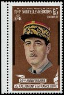 NOUVELLES-HEBRIDES Poste ** - 304, Erreur Sans Surcharge Or (barres Noires Seules): 65c. De Gaulle - Nouvelles-Hébrides