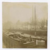 E014 Photo Originale Vintage Péniche Fluvial Nord De France 1902 - Altri