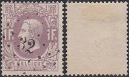 """Belgique 1870 -  N°36 Oblitération """"32"""" Beaumont  (BE) DC3958 - Autres"""