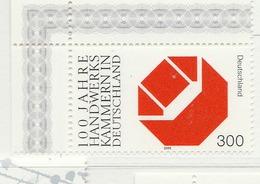PIA - GERMANIA - 2000 :  Centenario Del Sindacato Dei Lavoratori  - (Yv 1956) - [7] Repubblica Federale