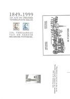 3 Dif. ZNE6 Belgica 1982 + ZNE9 (1849-1949) + ZNE5 (1979) - Feuillets Noir & Blanc