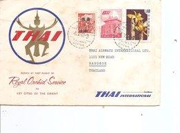 Taiwan -Formose ( Lettre Par Avion De 1969 Vers La Thailande à Voir) - 1945-... República De China