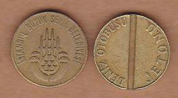 AC - TRANSPORTATION - MARITIME  TOKEN ISTANBUL FERRY BRASS TOKEN - JETON TURKEY - Tokens & Medals