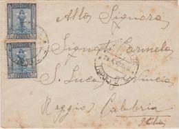 1940 ZUARA CITTA' C2 (29.4) Su Busta Affrancata Ordinaria Due C.25 - Libia