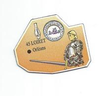 """MAGNET Le Gaulois """" Département - 45 Loiret - Orléans - Jeanne D'Arc Porcelaine """" - Magnets"""