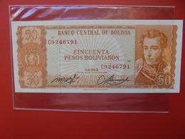 BOLIVIE 50 BOLIVIANOS 1962 PEU CIRCULER  (B.7) - Bolivie