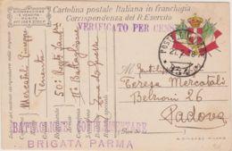 1918 POSTA MILITARE/ 134 C2 (27.2) Su Cartolina Franchigia - 1900-44 Vittorio Emanuele III
