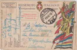 1918 POSTA MILITARE/ 142 C2 (23.12) Su Cartolina Franchigia - 1900-44 Vittorio Emanuele III