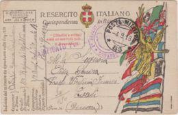 1918 POSTA MILITARE/ 83 C2 (4.9) Su Cartolina Franchigia - 1900-44 Vittorio Emanuele III
