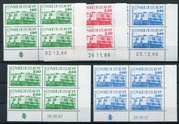 RC 13442 FRANCE SERVICE N° 93 / 95 + 96 / 97 SERIE BATIMENT DU CONSEIL COINS DATÉS NEUF ** - Esquina Con Fecha