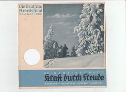 KDF-Monatsheft,Januar 1940, NS-Magazine Kraft Durch Freude, Die Deutsche Arbeitsfront,Gau Saxonia, (Chemnitz) - Hobbies & Collections