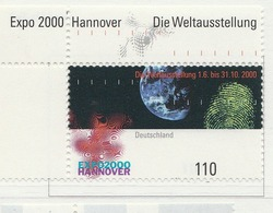 """PIA - GER- 2000 : """"Expo 2000"""" - Esposizione Universale Di Hannover - (Yv 1962) - Nuovi"""