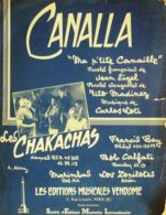 PARTITION-LES CHAKACHAS-CANALLA-1958-194 - Volksmusik