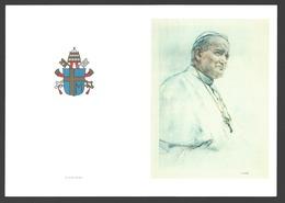 Karol Wojtyla / Joannes Paulus II / John Paul II - Aandenken - Dubbele Kaart - Papas