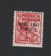 St Pierre Et Miquelon Taxe N° 49 Gomme Avec Charnière - Timbres-taxe