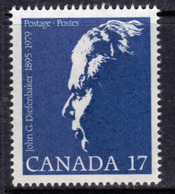 Canada 1980 John Diefenbaker Commemoration, MNH, SG 982 - 1952-.... Reign Of Elizabeth II