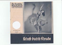 KDF-Monatsheft,Januar 1941, NS-Magazine Kraft Durch Freude, Die Deutsche Arbeitsfront,KDF-Wagen In Fronteinsatz - Tempo Libero & Collezioni