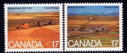 Canada 1980 75th Anniversary Of Alberta & Saskatchewan Set Of 2, MNH, SG 986/7 - 1952-.... Reign Of Elizabeth II