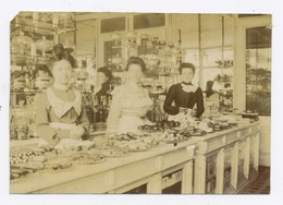 E020 Photo Originale Vintage Commerce Intérieur Patisserie Gateau Nord De France Vers 1902 - Altri
