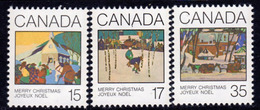 Canada 1980 Christmas Paintings Set Of 3, MNH, SG 993/5 - 1952-.... Reign Of Elizabeth II