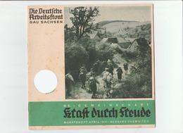 KDF-Monatsheft,April 1941, NS-Magazine Kraft Durch Freude, Die Deutsche Arbeitsfront, Gau Saxonia, (Chemnitz) - Hobbies & Collections