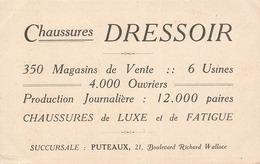 92 Puteaux Pub Publicité Chaussures Dressoir 21 Boulevard Richard Wallace Cpa Chromo La Mist En Laire - Puteaux