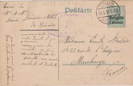 EP / THUIN - 29-3-1916  Cachet à Pont Vers MAUBEUGE - German Occupation