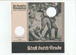 KDF-Monatsheft,November 1941, NS-Magazine Kraft Durch Freude, Die Deutsche Arbeitsfront, Gau Saxonia, (Marienberg) - Tempo Libero & Collezioni