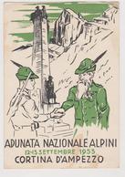 Adunata Nazionale Alpini, 12-13 Settembre 1953 Cortina D'Ampezzo , Illustrata  - F.G - Militari