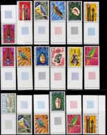 NOUVELLES-HEBRIDES Poste ** - 450/75, Complet 26 Valeurs, 2 Légendes, Surchargées - Cote: 199 - Nouvelles-Hébrides