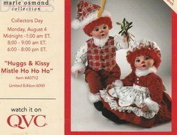 """Dolls  Marie Osmond Collection """"Huggs & Kissy Mistle Ho Ho Ho"""" Limited Edition 6000 Watch It On QVC - Games & Toys"""