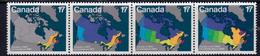 Canada 1981 Canadian Day Maps Strip Of 4, MNH, SG 1013/6 - 1952-.... Reign Of Elizabeth II
