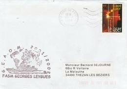 GEAOM 2001/2002 Frégate GEORGES LEYGUES Cachet Flamme Fort De France Marine 23/12/2001 - Naval Post