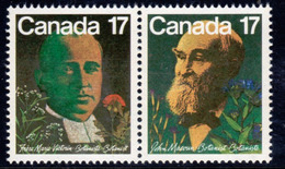 Canada 1981 Canadian Botanists Pair, MNH, SG 1017/8 - 1952-.... Reign Of Elizabeth II