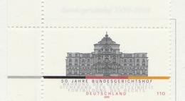 PIA - GER- 2000 : Cinquantenario Della Corte Di Giustizia Federale  - (Yv 1969) - [7] Repubblica Federale