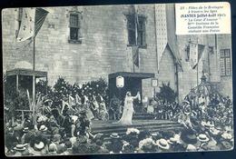 Cpa  Du 44  Nantes  1910 Fêtes De La Bretagne à Travers Les âges  La Cour D' Amour Dorinne Récitant Une Poésie   JM33 - Nantes
