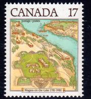 Canada 1981 Niagara-on-the-Lake Bicentenary Map, MNH, SG 1020 - 1952-.... Reign Of Elizabeth II