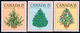 Canada 1981 Christmas Set Of 3, MNH, SG 1023/5 - 1952-.... Reign Of Elizabeth II
