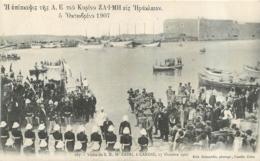 CRETE CANDIE VISITE DE S.E. MR  ZAIMI A CANDIE LE 17 OCTOBRE 1907 - Greece