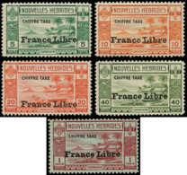 NOUVELLES-HEBRIDES Taxe * - 21/25, Complet, Gomme Habituelle: France Libre - Cote: 95 - Nouvelles-Hébrides