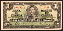 Canada  1937 $1 Un Dollaro Bank Of Canada Re Giorgio VI  LOTTO 2739 - Canada