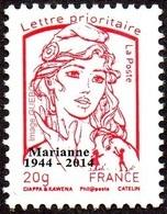 France Marianne De La Jeunesse Par Ciappa Et Kawena N° 4767_ba ** TVP Rouge 20g. Sérigraphie Sans Phosphore Surchargé - 2013-... Marianne De Ciappa-Kawena