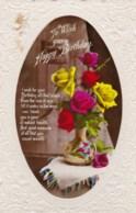 AL79 Greetings - Birthday, Vase With Roses - Birthday
