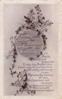 AL79 Greetings - Family Birthday, Brother, Flowers - Birthday