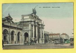 * Brussel - Bruxelles - Brussels * (Edition Grand Bazar Anspach, Nr 145 - COULEUR) Gare Du Midi, Bahnhof, Tram, Vicinal - Bruxelles-ville